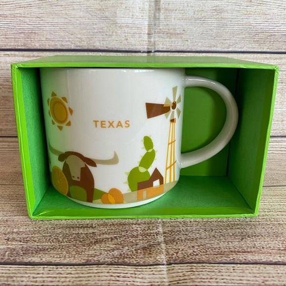 STARBUCKS Texas You Are Here Ceramic Mug Cup